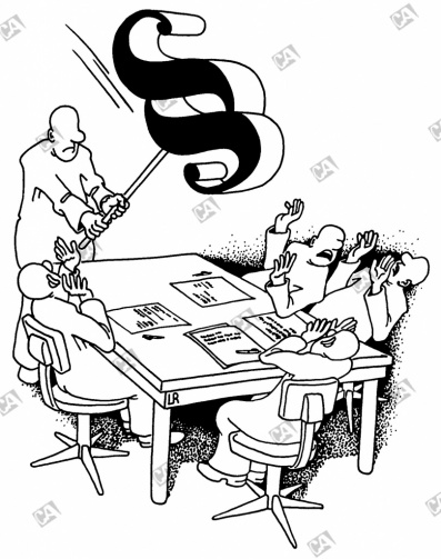 Auf den Tisch hauen