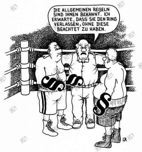Ein ganz offener Boxkampf