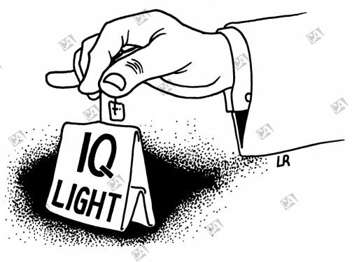 IQ light in einem Teebeutel