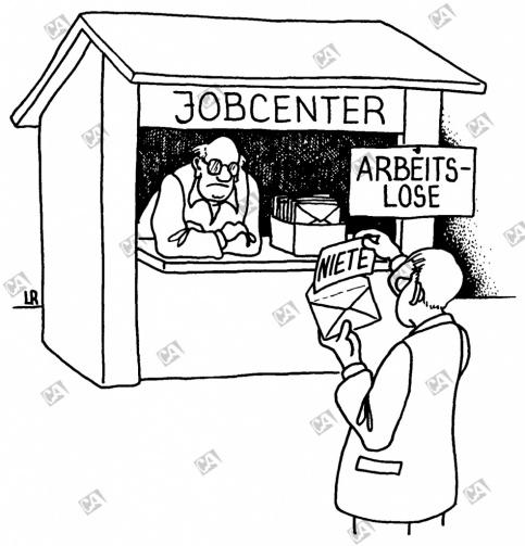 Arbeitslose und Jobcenter