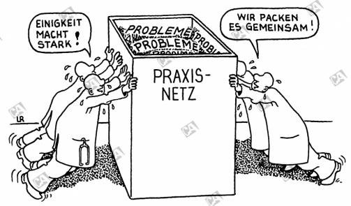 Probleme im Praxisnetz