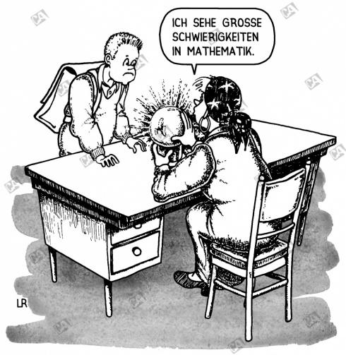 Schüler bei einer Hellseherin