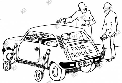 Fahrstunde mit Stützräder