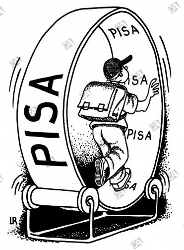 Ein Laufrad mit der Aufschrift 'PISA'