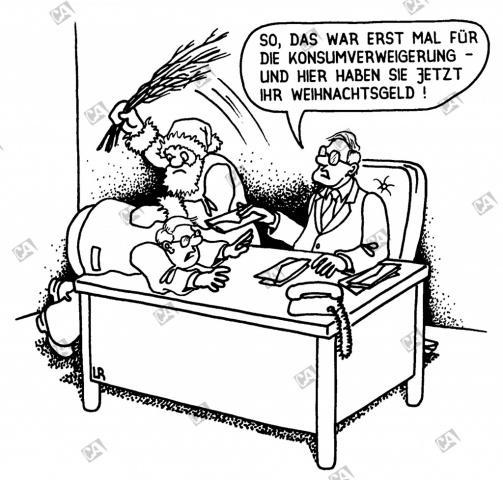 Bestrafung und Weihnachtsgeld