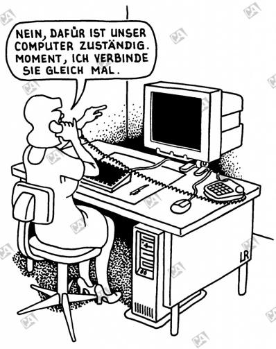 Ich verbinde mit dem Computer