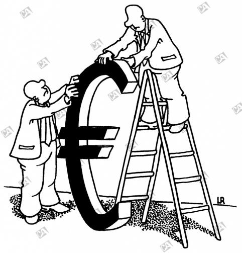 Der Euro in seiner Größe