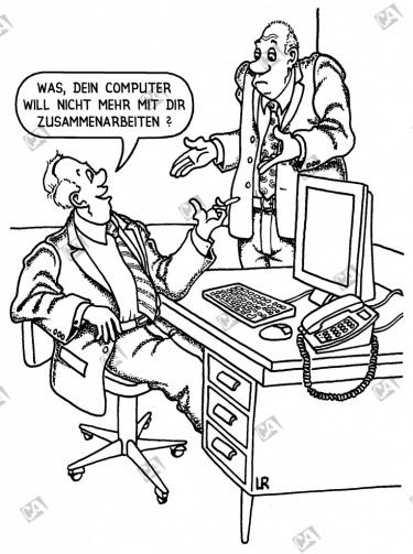 Ein Rechner verweigert die Zusammenarbeit