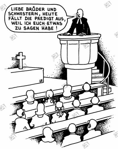 Die Predigt fällt aus