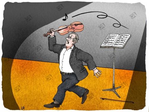 Geige als Notenfänger