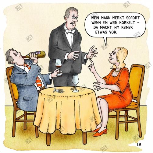 Nur ein Test ob der Wein korkelt