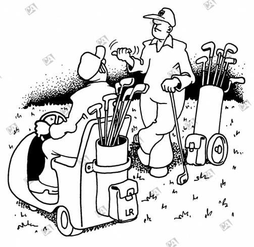 Golfer als Anhalter