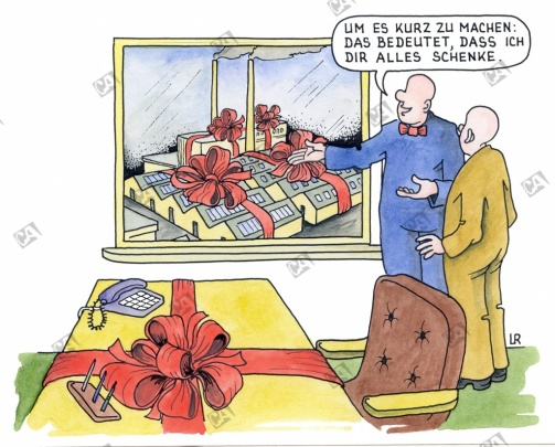 Geschäftsübergabe als Geschenk ?