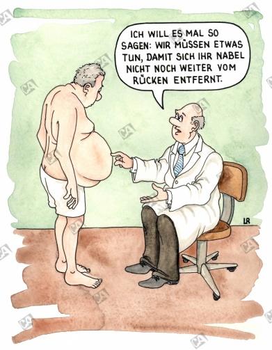 Ein zu dicker Bauch
