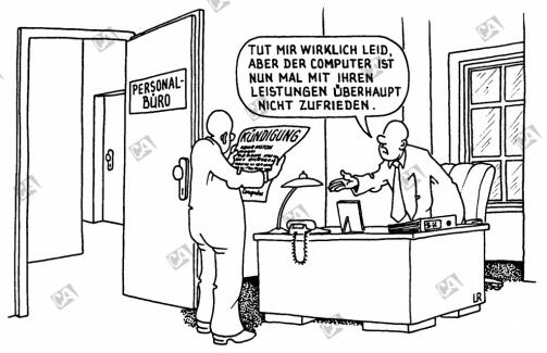 Der Computer entscheidet für eine Entlassung