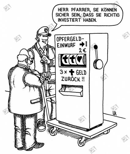 Der Opfergeldautomat