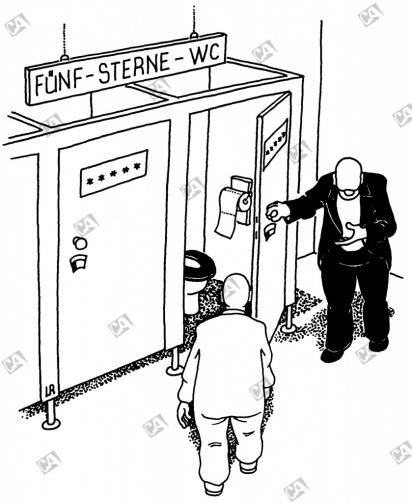 Fünf-Sterne-WC