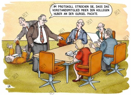 Handgreiflichkeiten bei der Vorstandssitzung