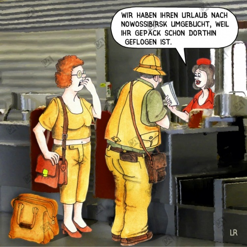 Das Reisegepäck ist weg