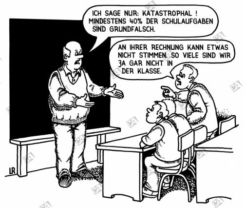 Fast die Hälfte der Schulaufgaben sind falsch