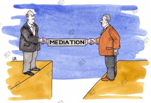 Dank Mediation vertragen sich zwei Geschäftsleute wieder