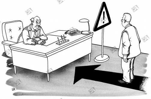 Vorsicht vor dem Vorgesetzten