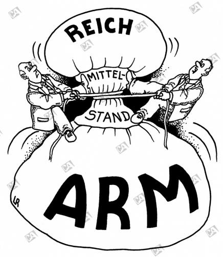 Arm, reich und der Mittelstand
