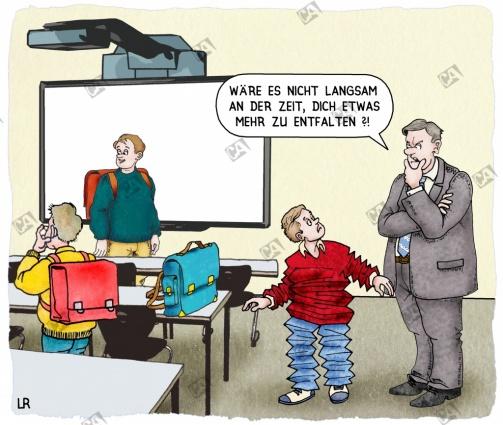 Ein Schüler soll sich mehr entfalten