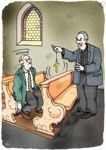 Hypnose auf der Kirchenbank