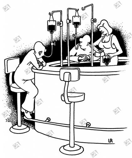 Infusion an der Bar