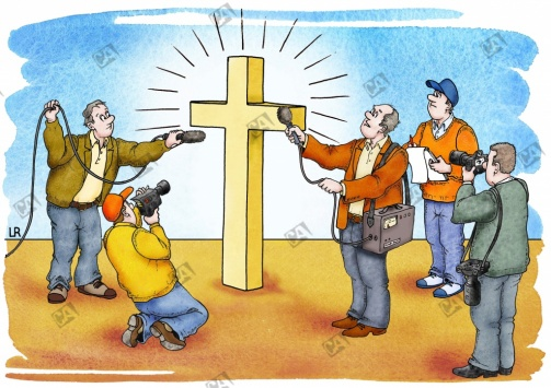 Interview mit einem Kreuz