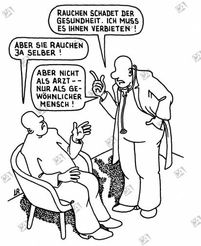 Rauchen schadet der Gesundheit