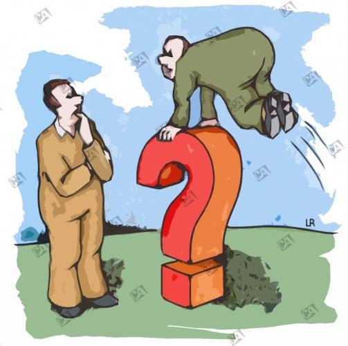 Im Bocksprung über ein Fragezeichen