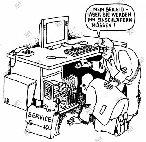 Der alte Computer hat ausgedient