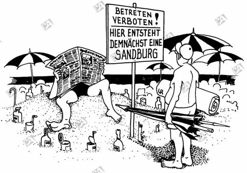 Hier entsteht eine Sandburg
