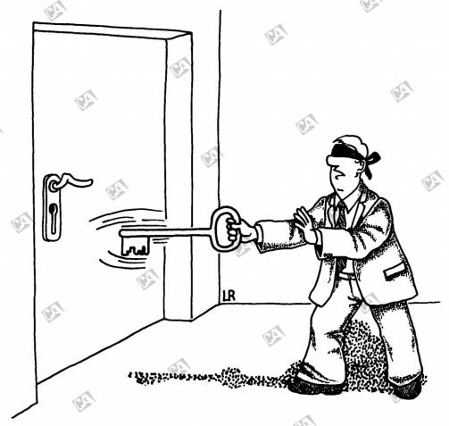 Wo ist das Schlüsselloch ?