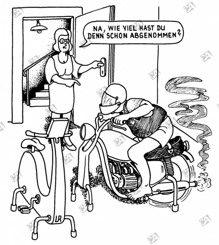 Der Hometrainer im Keller