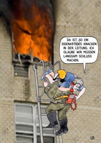 Ein Wohnungsbrand