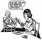 Ein Löffelchen für Oma und eines für Opa