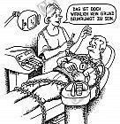 Der Patient wird in Ketten gelegt
