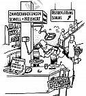 Behandlung im Großmarkt