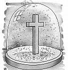 Schneegestöber mit Kreuz