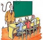 Lehrer wird mit Energie aufgeladen