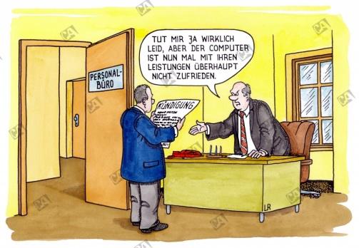 Computer kündigt einen Mitarbeiter