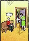 Opa hat Zahnschmerzen