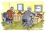 Der lasche Arbeitsplatz