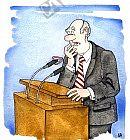 Redner verliert das Gebiss