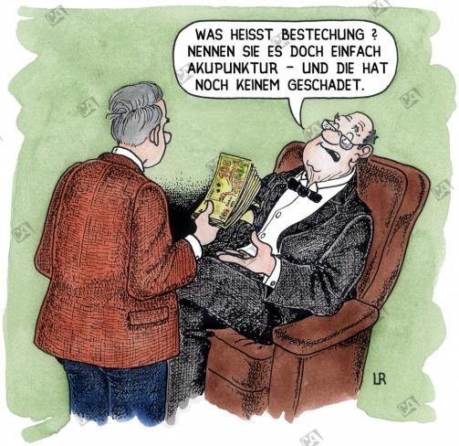 Akupunktur oder Bestechung ?