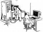 Aufgeblasener Computer