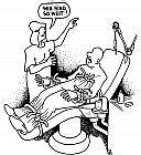 Gut befestigter Patient